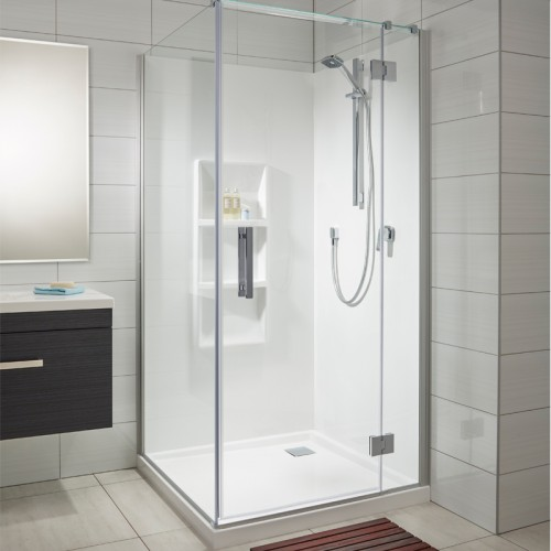 Allora 1000x1000 2 Wall Square Moulded Wall - RRP $3040