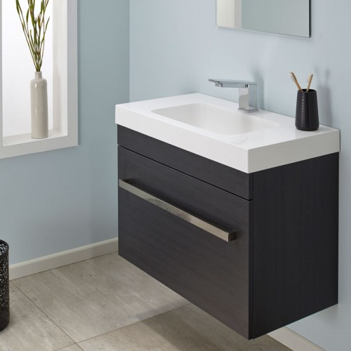 Cara Slim Soltero 900 Wall Charred Oak Sleek Handle - RRP $1540