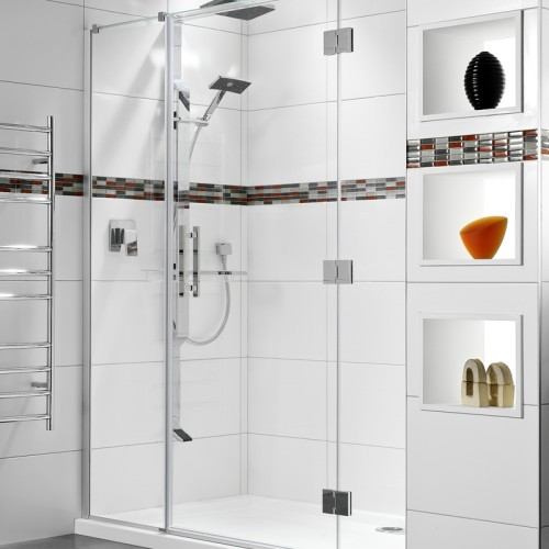Lifestyle 1000x1800 3 Wall Tiled Wall Shower - RRP $3230