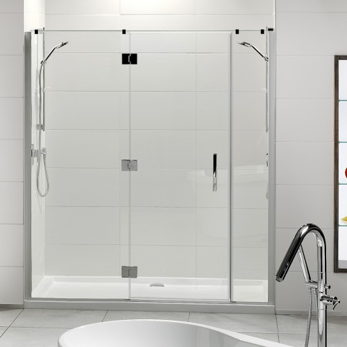 Lifestyle 1000x1800 3-Wall Tiled Wall Shower Offset Door Long Hinge panel - RRP $3230