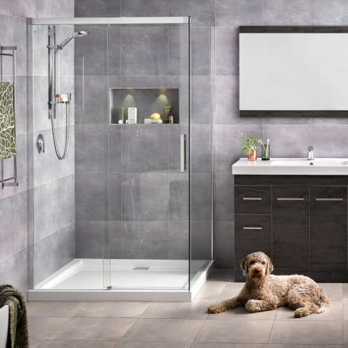Motio sliding door shower athena bathrooms Bathroom tiles ideas nz