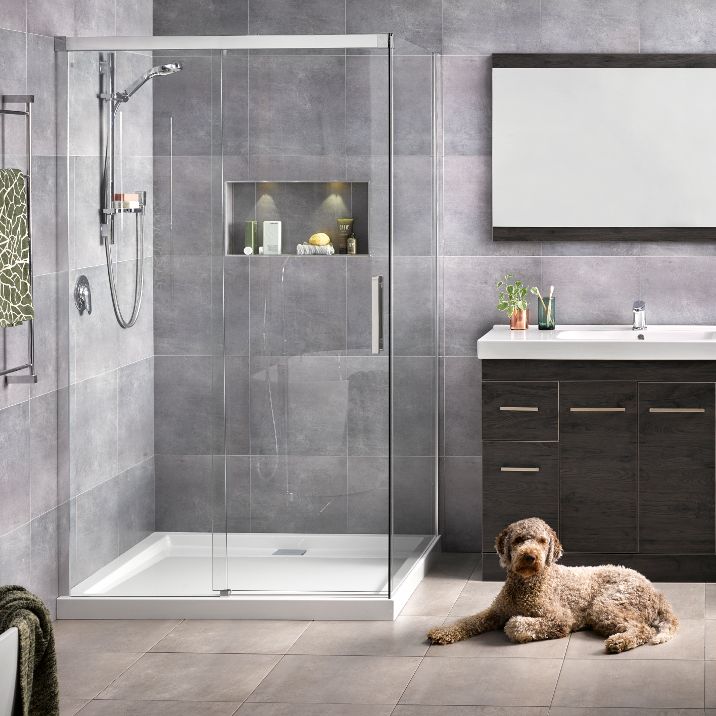 Motio 1000x1200 2 Sided Shower on Tiled Wall - RRP $2830