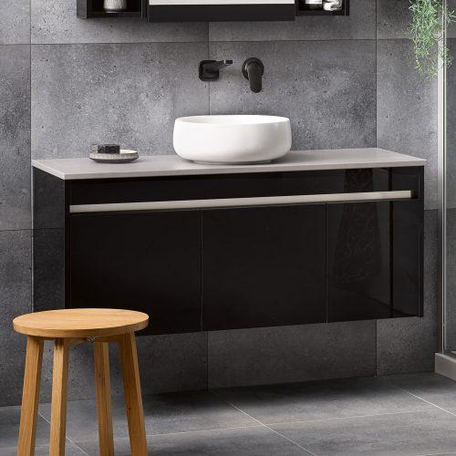 Sirocco Alumino Exochique Black Sleek Concrete Bench Top Circa Basin - RRP $3870
