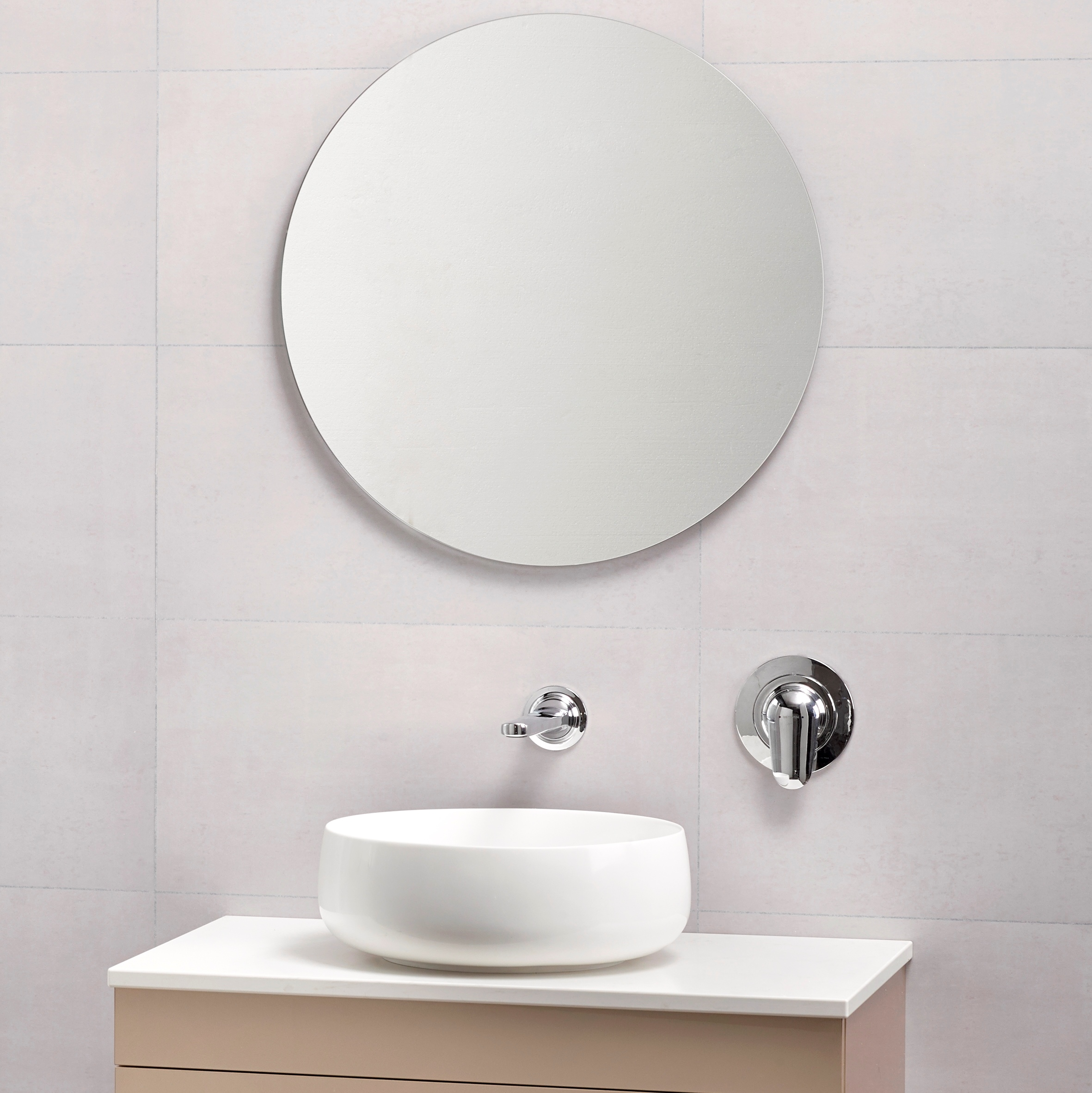 Polished Edge Mirror 590 Round - RRP $80