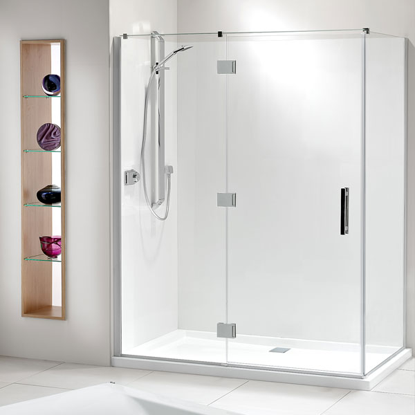 Lifestyle 2 Sided Acrylic Wall Shower 1000x1600