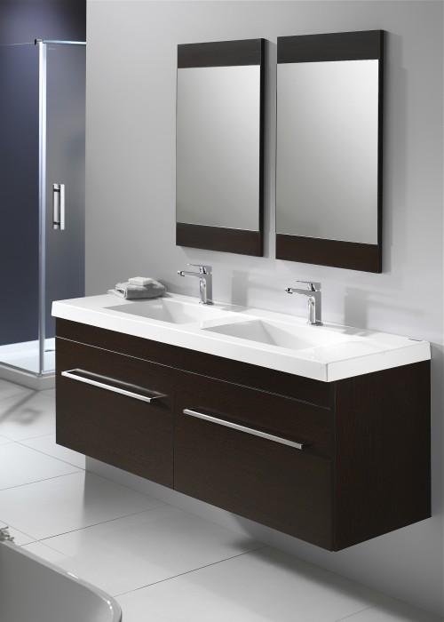 Soji Flat Mirror 500 Durachique Wenge - RRP $300 ea