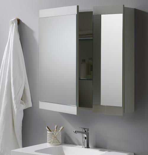 Soji 750 Mirror Cabinet Durachique White Ash - RRP $760