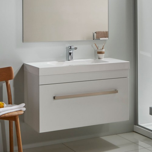 Cara Soltero 900 Wall White Gloss Sleek Handle - RRP $1540