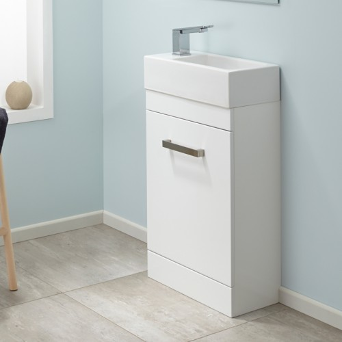 Mini VC Velaire Floor White Gloss Sleek handle - RRP $750