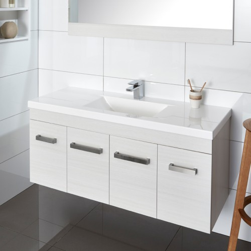 Wave Velaire 1200 Wall Durachique White Ash Sleek Handle - RRP $2420