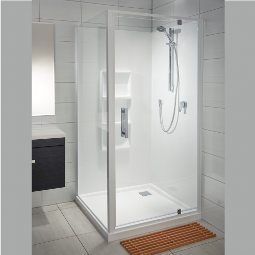 Soul 1000x1000 2 Wall Square Moulded Wall White - RRP $2070