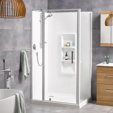 Soul 900x1200 2 Wall Moulded Wall White - RRP $2480