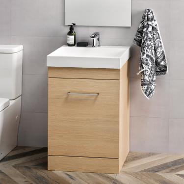 Slab 500 Floor Velaire Premium Oak Box Handle - RRP $830