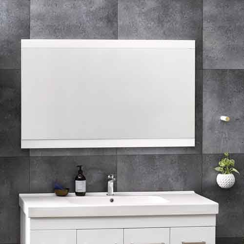 Soji Flat Mirror 1200 White Gloss - RRP $390