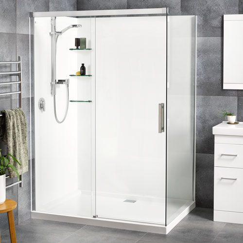 Motio 1000x1400 2 Sided Shower Flat Wall