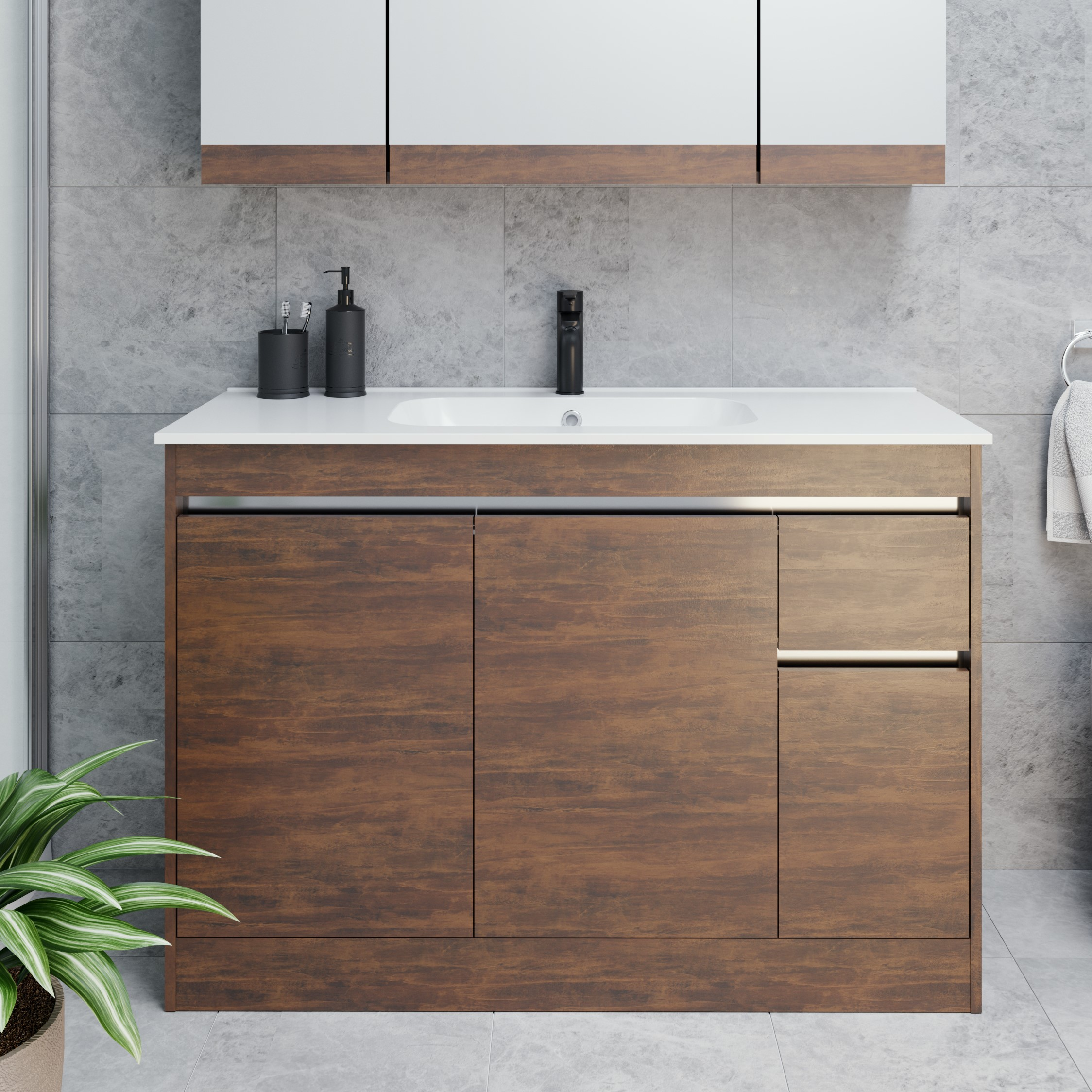 Nera Alumino 1215 Floor Bronzed Wood