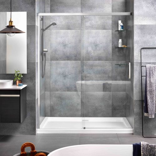 Motio 1600x1000 3 Sided Shower on Tiled Wall
