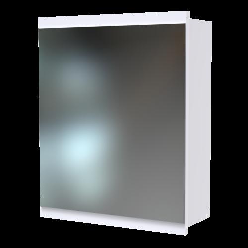 Soji 400 Mirror Cabinet White Melamine