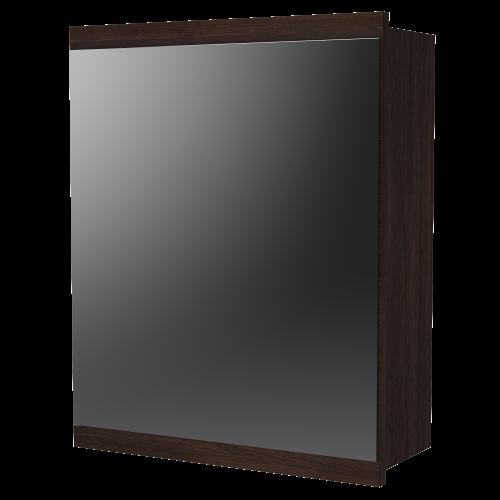 Soji 400 Mirror Cabinet Dark Oak
