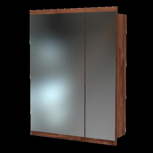 Soji 600 Mirror Cabinet Hickory Walnut