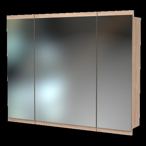 Soji 1000 Mirror Cabinet Rural Oak