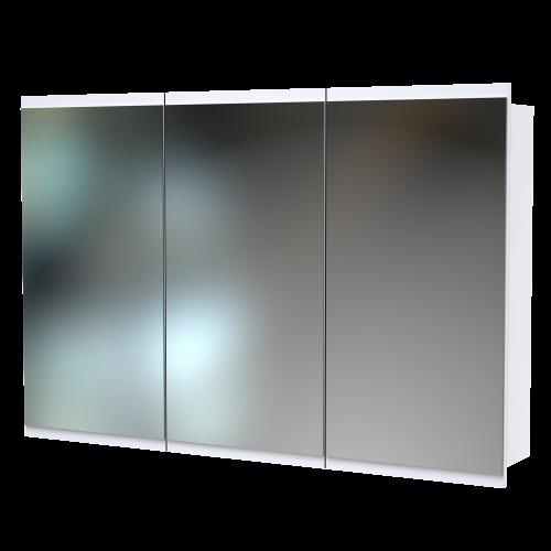 Soji 1200 Mirror Cabinet White Melamine