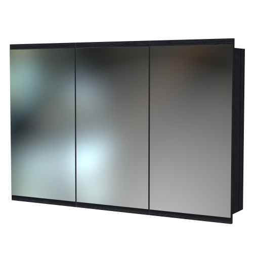 Soji 1200 Mirror Cabinet Charred Oak